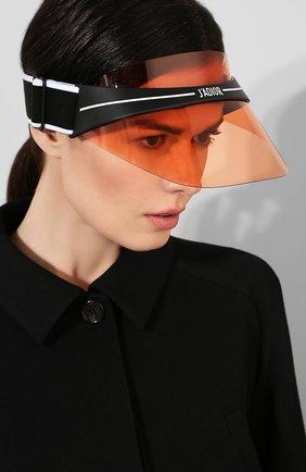 Солнцезащитный козырек Dior оранжевые   Фото №2