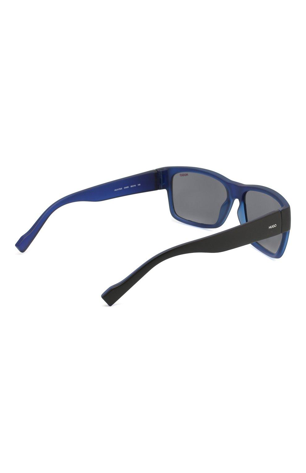 Мужские солнцезащитные очки BOSS синего цвета, арт. 0176 0VK   Фото 3