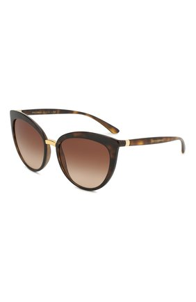 Женские солнцезащитные очки DOLCE & GABBANA коричневого цвета, арт. 6113-502/13 | Фото 1