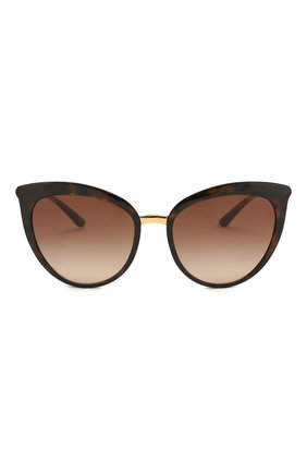 Женские солнцезащитные очки DOLCE & GABBANA коричневого цвета, арт. 6113-502/13 | Фото 3