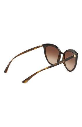 Женские солнцезащитные очки DOLCE & GABBANA коричневого цвета, арт. 6113-502/13 | Фото 4