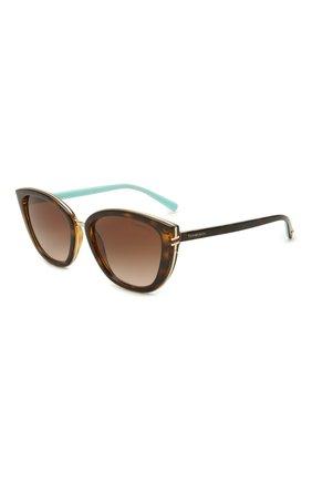 Женские солнцезащитные очки TIFFANY & CO. коричневого цвета, арт. 4152-80153B | Фото 1