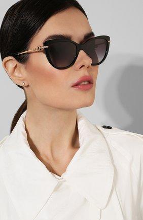 Солнцезащитные очки BVLGARI черные | Фото №2