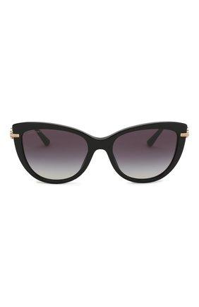 Солнцезащитные очки BVLGARI черные | Фото №3
