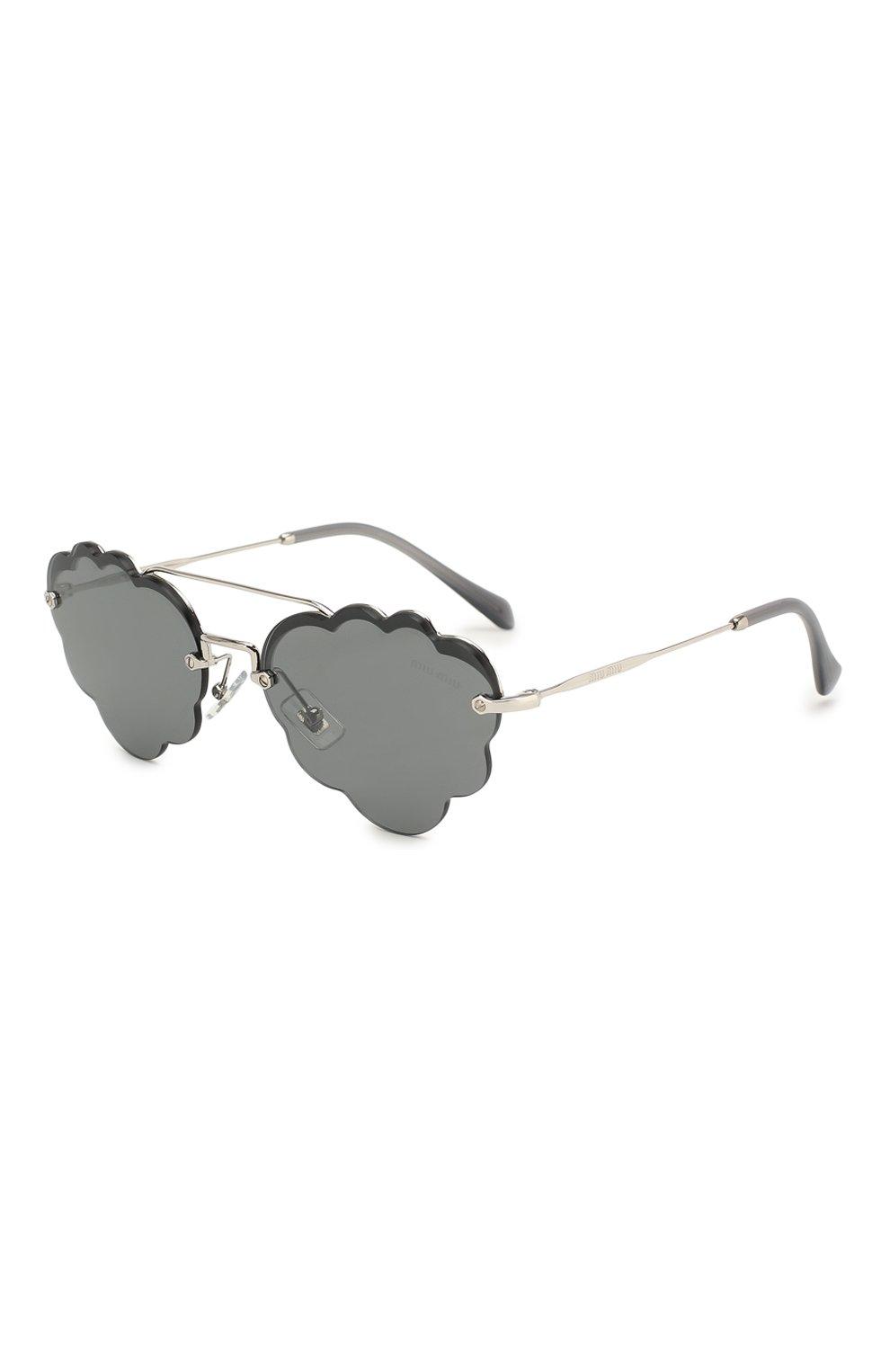 Женские солнцезащитные очки MIU MIU серого цвета, арт. 57US-1BC175   Фото 1
