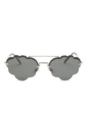 Солнцезащитные очки Miu Miu серые | Фото №3
