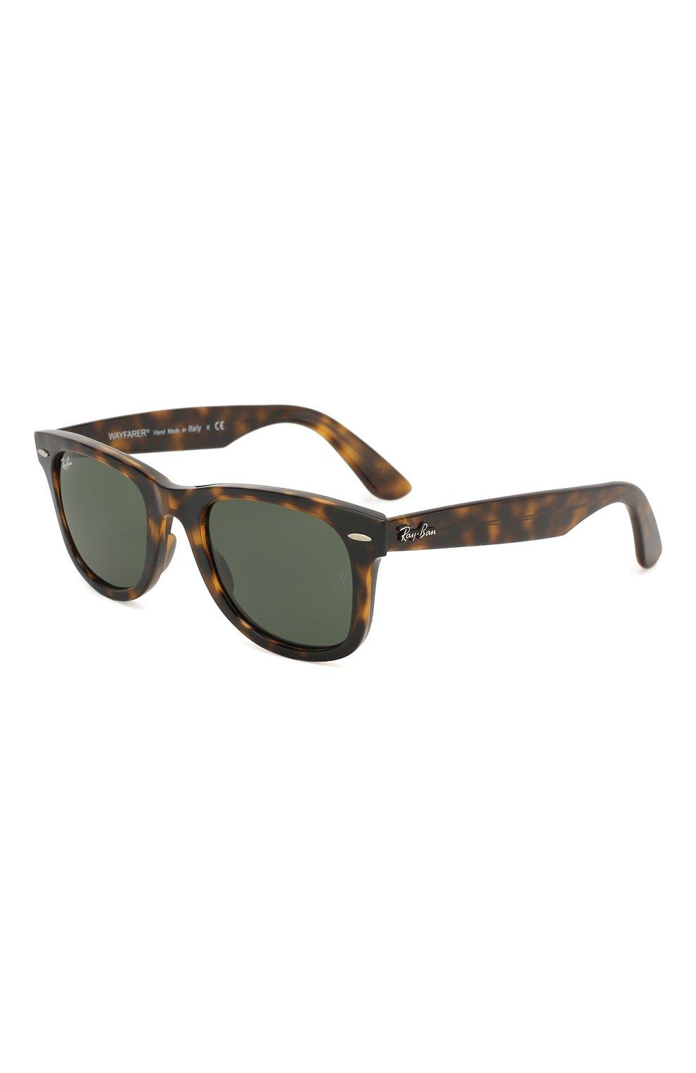 Мужские солнцезащитные очки RAY-BAN коричневого цвета, арт. 4340-710   Фото 1