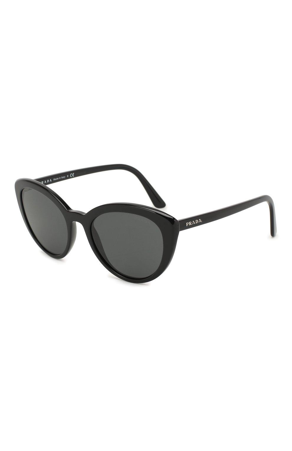 Женские солнцезащитные очки PRADA черного цвета, арт. 02VS-1AB5S0 | Фото 1