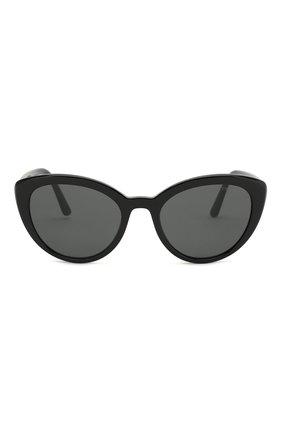 Женские солнцезащитные очки PRADA черного цвета, арт. 02VS-1AB5S0 | Фото 3