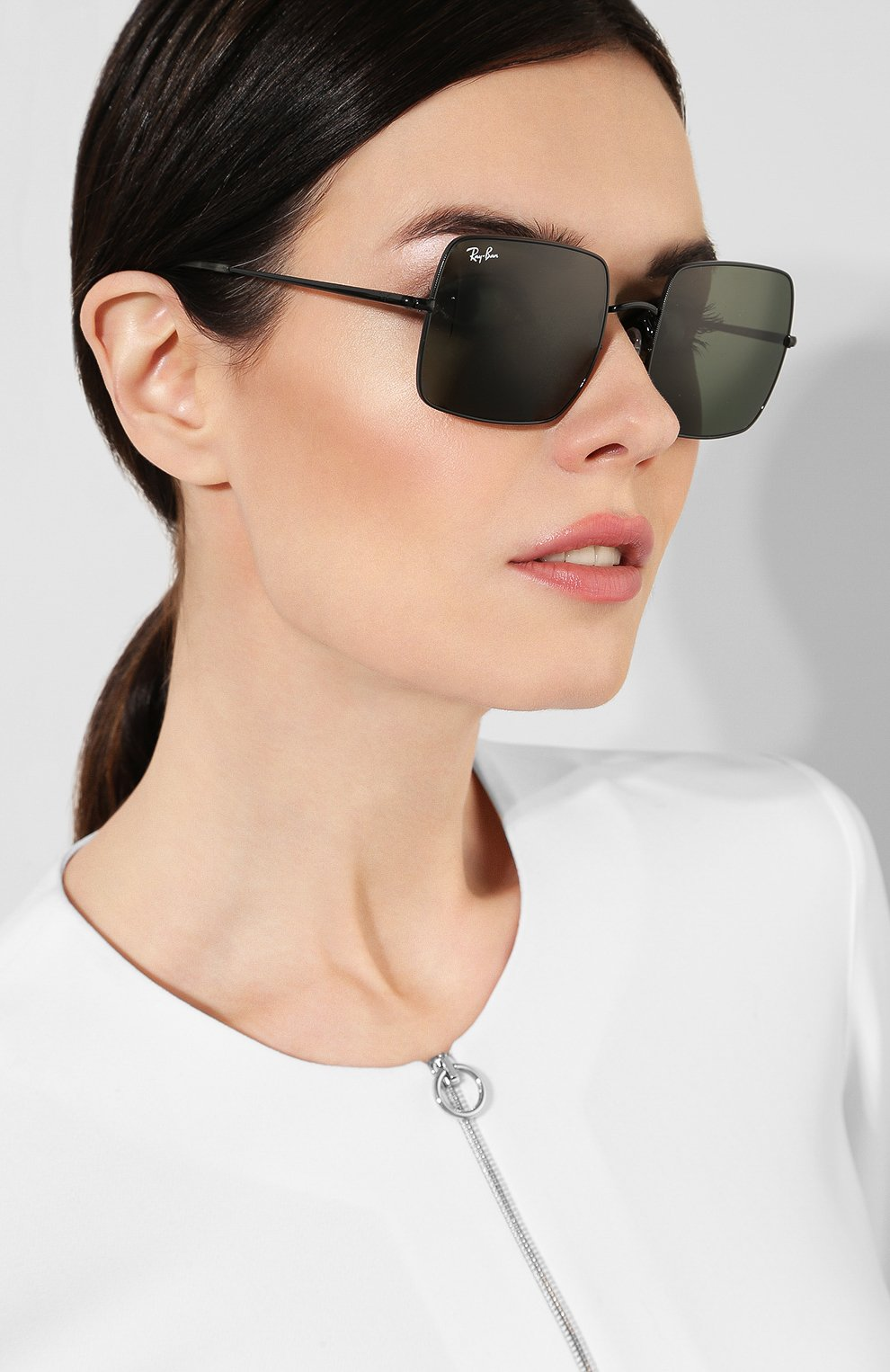 Женские солнцезащитные очки RAY-BAN черного цвета, арт. 1971-914831 | Фото 2