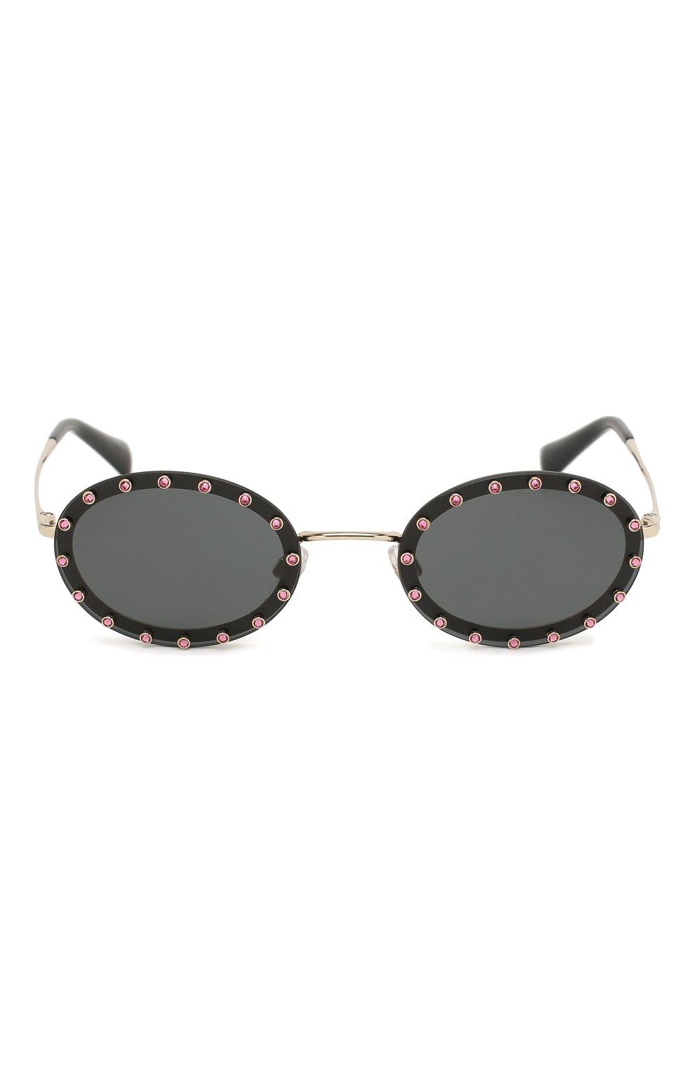 Женские солнцезащитные очки VALENTINO черного цвета, арт. 2027-300387 | Фото 3