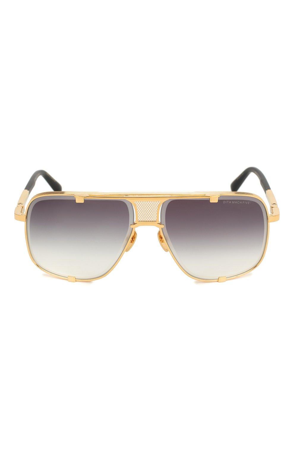 Мужские солнцезащитные очки DITA золотого цвета, арт. MACH-FIVE/2087F | Фото 2