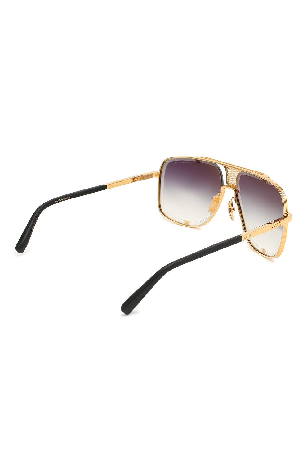 Мужские солнцезащитные очки DITA золотого цвета, арт. MACH-FIVE/2087F | Фото 3