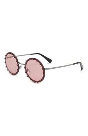 Солнцезащитные очки Valentino бордовые | Фото №1