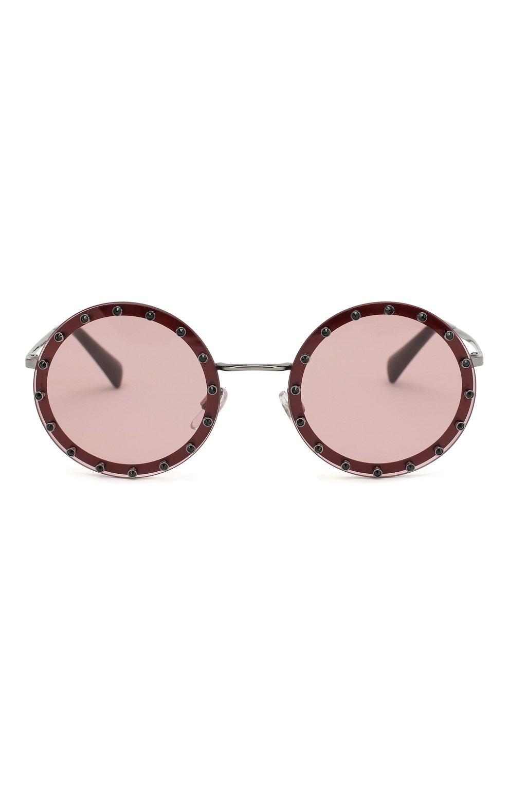 Солнцезащитные очки Valentino бордовые | Фото №3