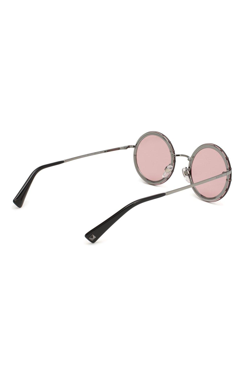 Солнцезащитные очки Valentino бордовые | Фото №4
