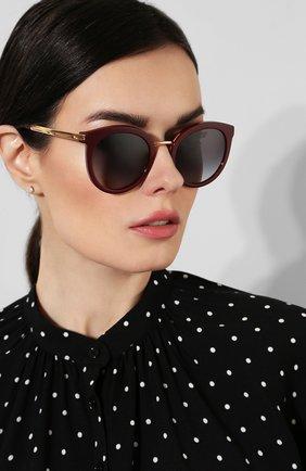 Солнцезащитные очки Dolce & Gabbana бордовые | Фото №2