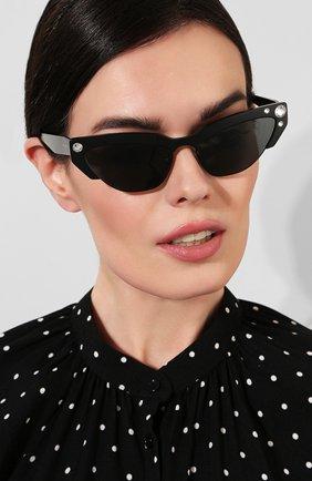 Солнцезащитные очки Miu Miu черные | Фото №2