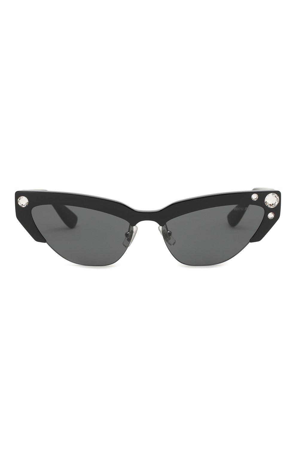 Солнцезащитные очки Miu Miu черные | Фото №3