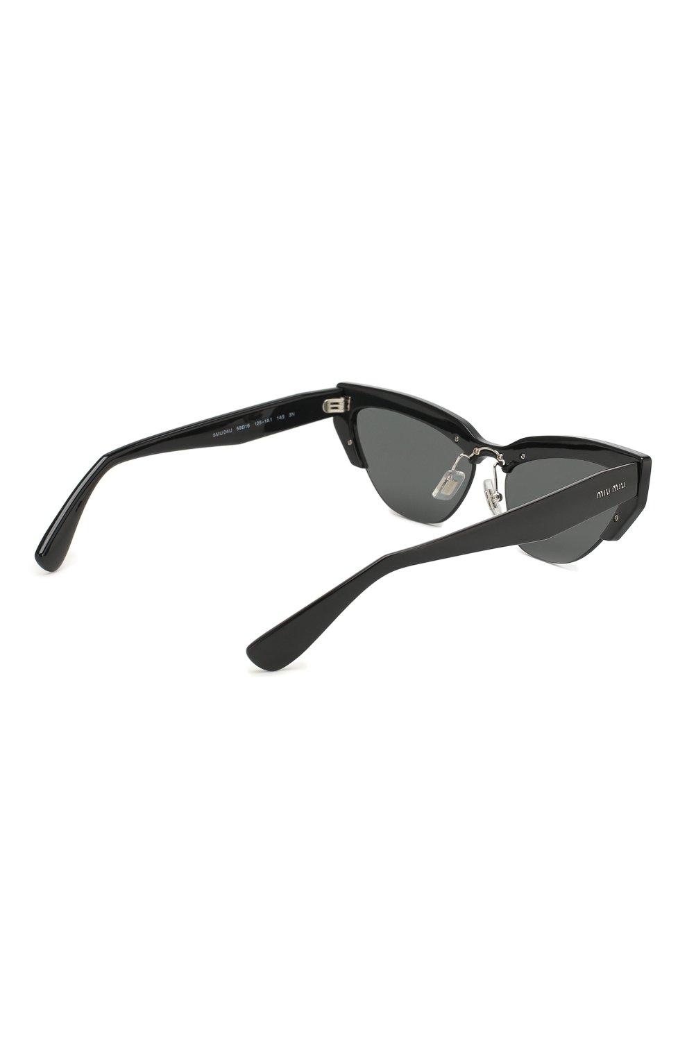 Солнцезащитные очки Miu Miu черные | Фото №4