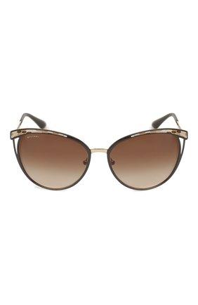 Солнцезащитные очки BVLGARI коричневые   Фото №3