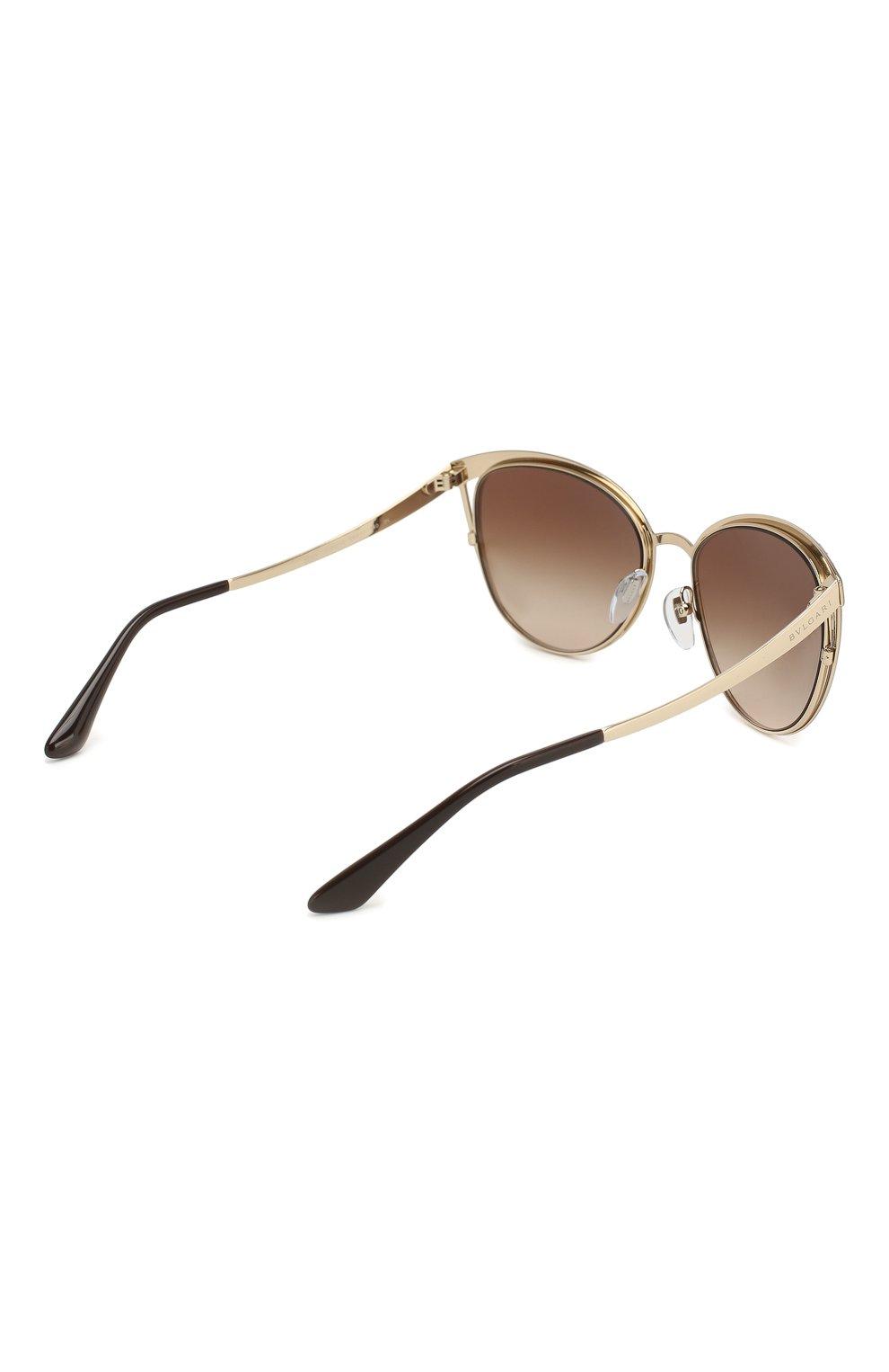 Солнцезащитные очки BVLGARI коричневые   Фото №4