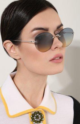Женские солнцезащитные очки OLIVER PEOPLES синего цвета, арт. 1264S-503679 | Фото 2