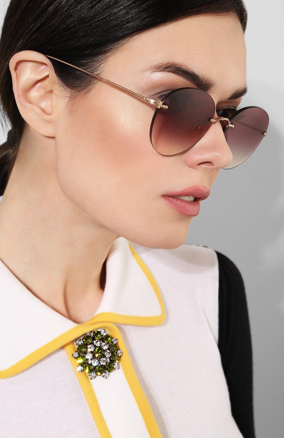 Женские солнцезащитные очки OLIVER PEOPLES бордового цвета, арт. 1264S-50378H   Фото 2