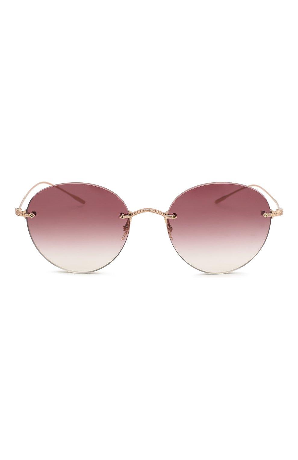 Женские солнцезащитные очки OLIVER PEOPLES бордового цвета, арт. 1264S-50378H   Фото 3