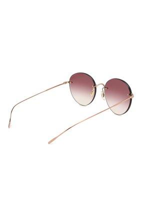 Женские солнцезащитные очки OLIVER PEOPLES бордового цвета, арт. 1264S-50378H   Фото 4