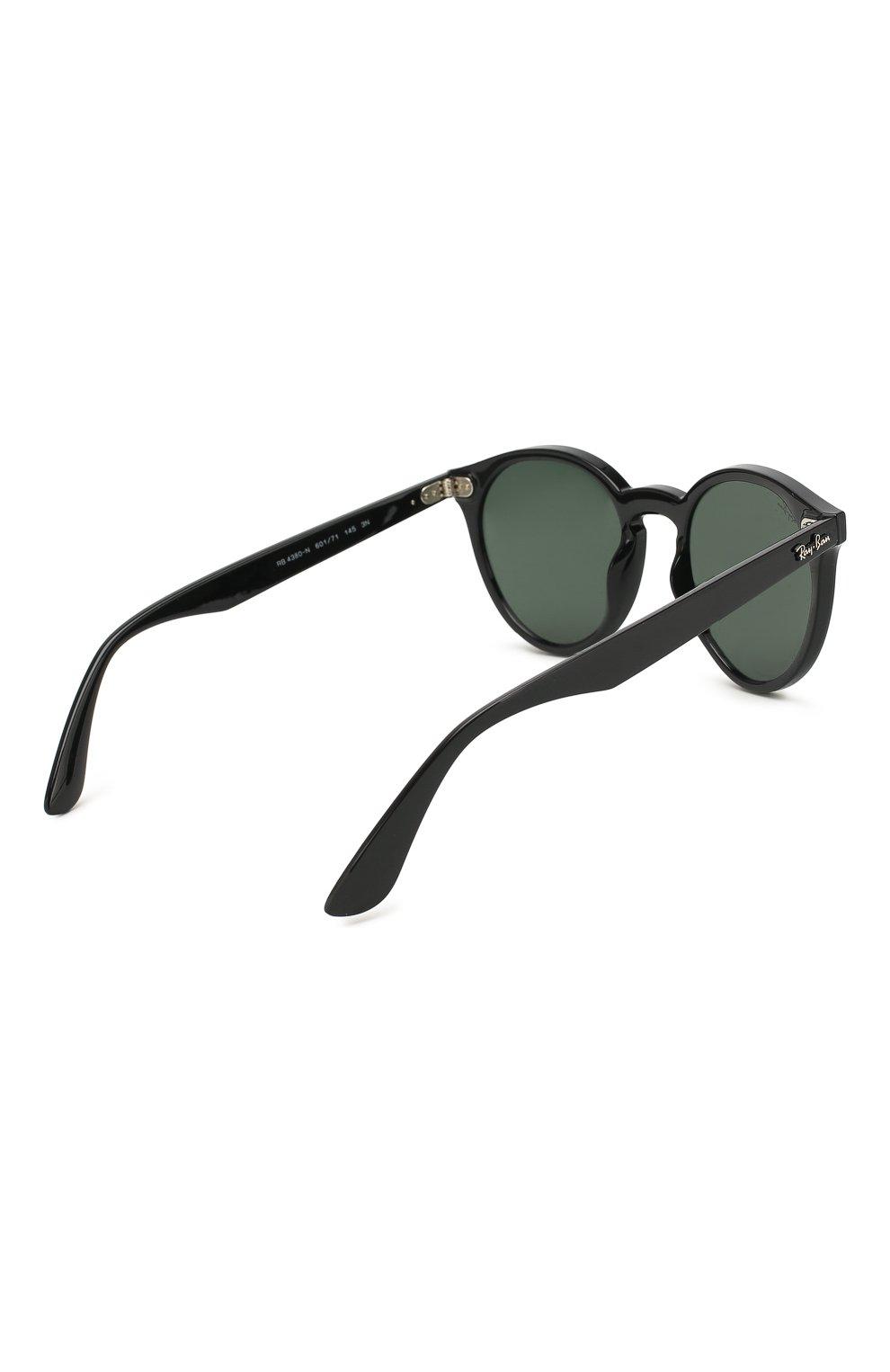 Женские солнцезащитные очки RAY-BAN черного цвета, арт. 4380N-601/71 | Фото 4