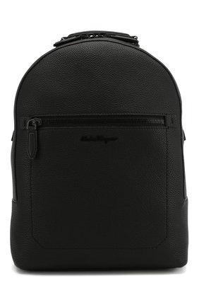 Мужской кожаный рюкзак SALVATORE FERRAGAMO черного цвета, арт. Z-0684994   Фото 1