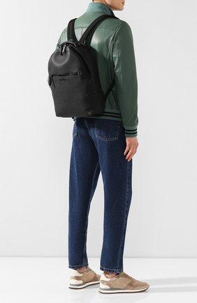 Мужской кожаный рюкзак SALVATORE FERRAGAMO черного цвета, арт. Z-0684994   Фото 2
