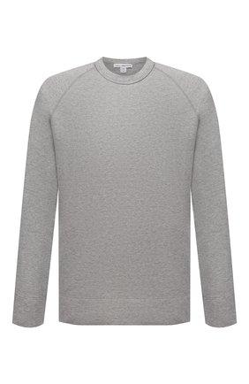 Мужской хлопковый свитшот JAMES PERSE серого цвета, арт. MXI3278 | Фото 1