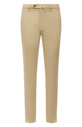 Мужской хлопковые брюки LORO PIANA светло-бежевого цвета, арт. FAE8346   Фото 1