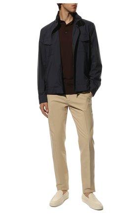 Мужской хлопковые брюки LORO PIANA светло-бежевого цвета, арт. FAE8346   Фото 2