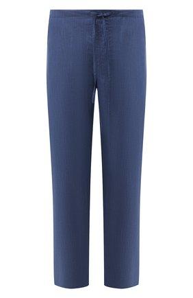 Домашние брюки из смеси льна и хлопка | Фото №1