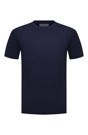 Мужская хлопковая футболка CANALI темно-синего цвета, арт. T0356/MJ00002 | Фото 1