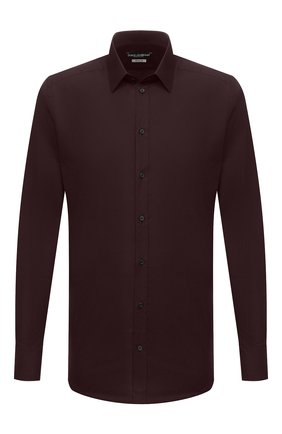 Мужская хлопковая сорочка DOLCE & GABBANA бордового цвета, арт. G5EJ0T/FU5K9 | Фото 1