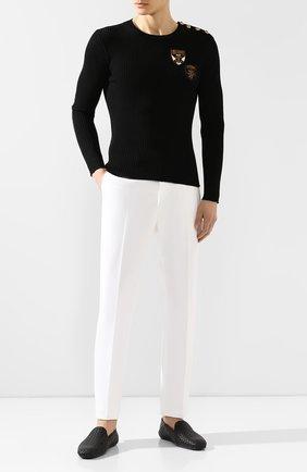 Мужские хлопковые брюки RALPH LAUREN белого цвета, арт. 790588859 | Фото 2