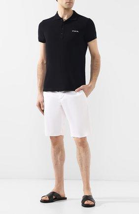 Мужские кожаные шлепанцы с тиснением DOUCAL'S черного цвета, арт. DU1934MALIUF073NN00 | Фото 2