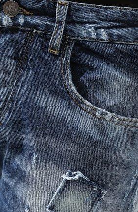 Джинсы прямого кроя Frankie Morello синие | Фото №5