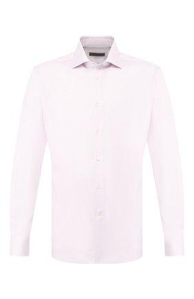Хлопковая сорочка с воротником кент   Фото №1