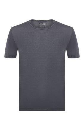 Мужская хлопковая футболка  FEDELI серого цвета, арт. 2UEF0113 | Фото 1