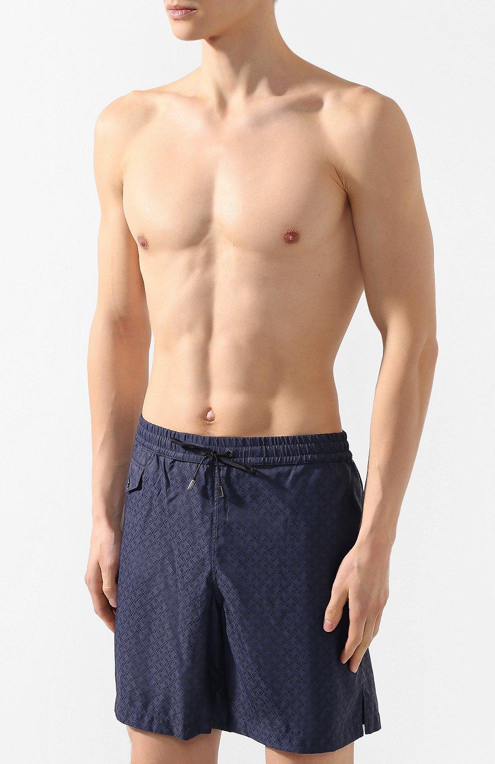 Плавки-шорты Brioni темно-синие | Фото №3