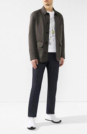 Мужская куртка из смеси хлопка и кашемира BRIONI темно-зеленого цвета, арт. SFNE0L/P603C | Фото 2