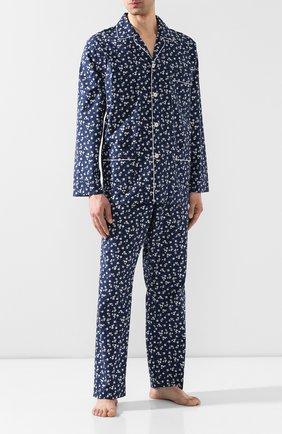 Мужская хлопковая пижама ROBERTO RICETTI темно-синего цвета, арт. PIGIAMA VENEZIA LUNG0/CF2220 | Фото 1