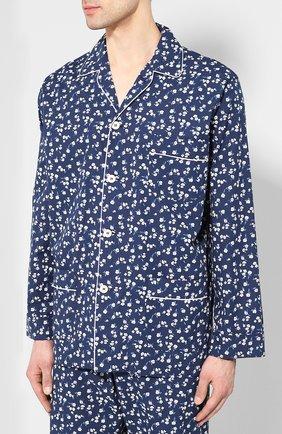 Мужская хлопковая пижама ROBERTO RICETTI темно-синего цвета, арт. PIGIAMA VENEZIA LUNG0/CF2220 | Фото 2