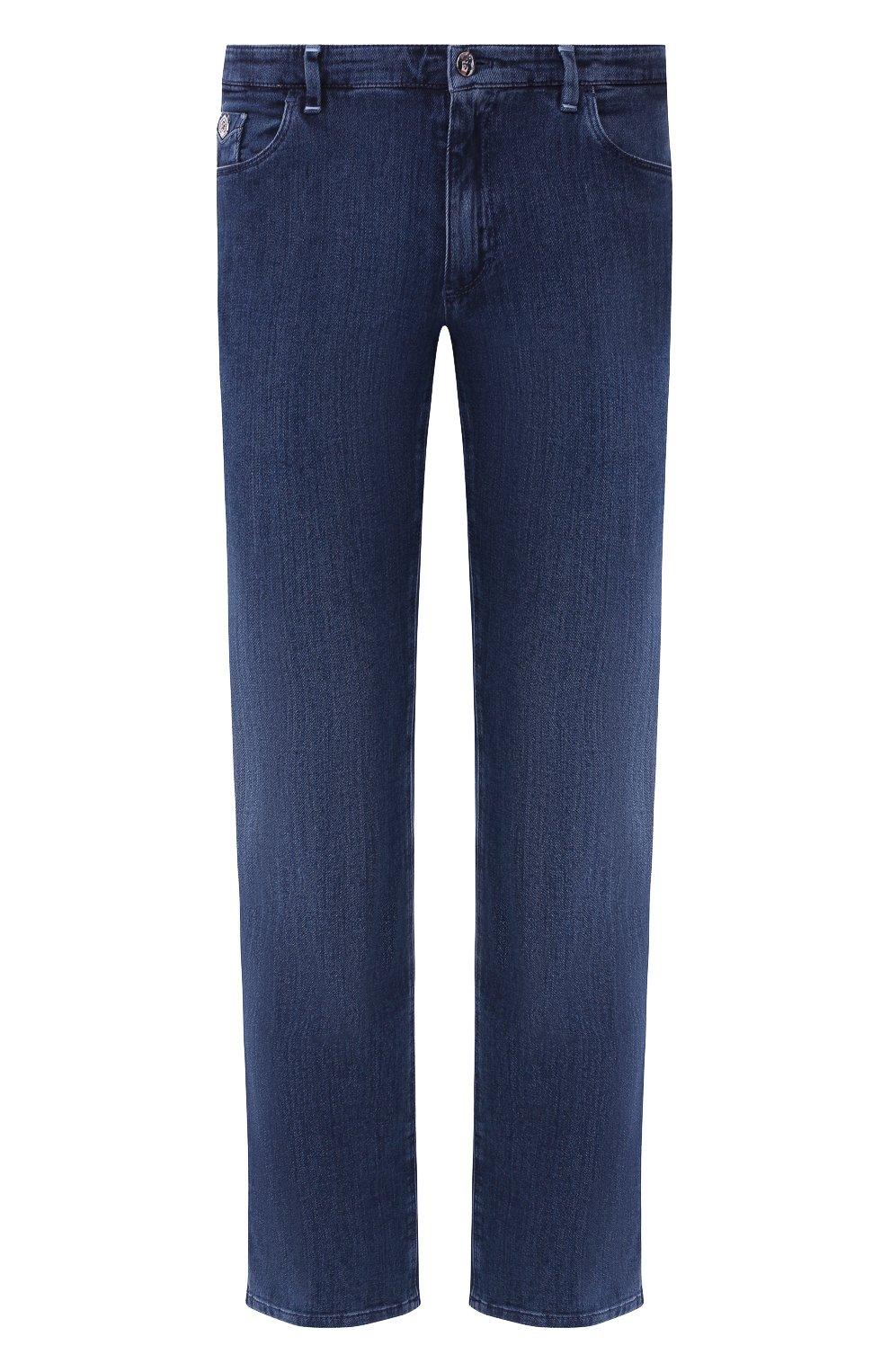 Мужские джинсы прямого кроя ZILLI темно-синего цвета, арт. MCR-00209-JABI3/S001 | Фото 1