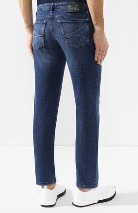 Мужские джинсы прямого кроя ZILLI темно-синего цвета, арт. MCR-00209-JABI3/S001 | Фото 4